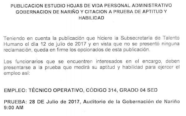 PUBLICACIÓN ESTUDIO HOJAS DE VIDA PERSONAL ADMINISTRATIVO ...
